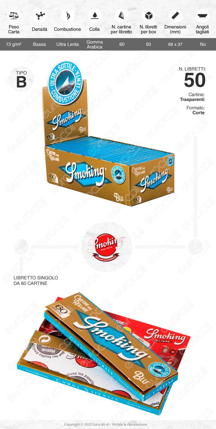 Cartine Smoking Blu Corte