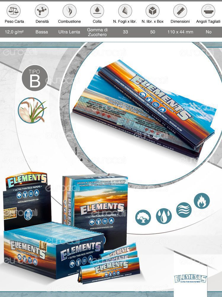 Cartine Elements King Size