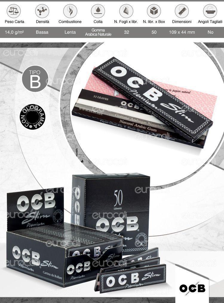 Cartine OCB Nere Premium lunghe slim