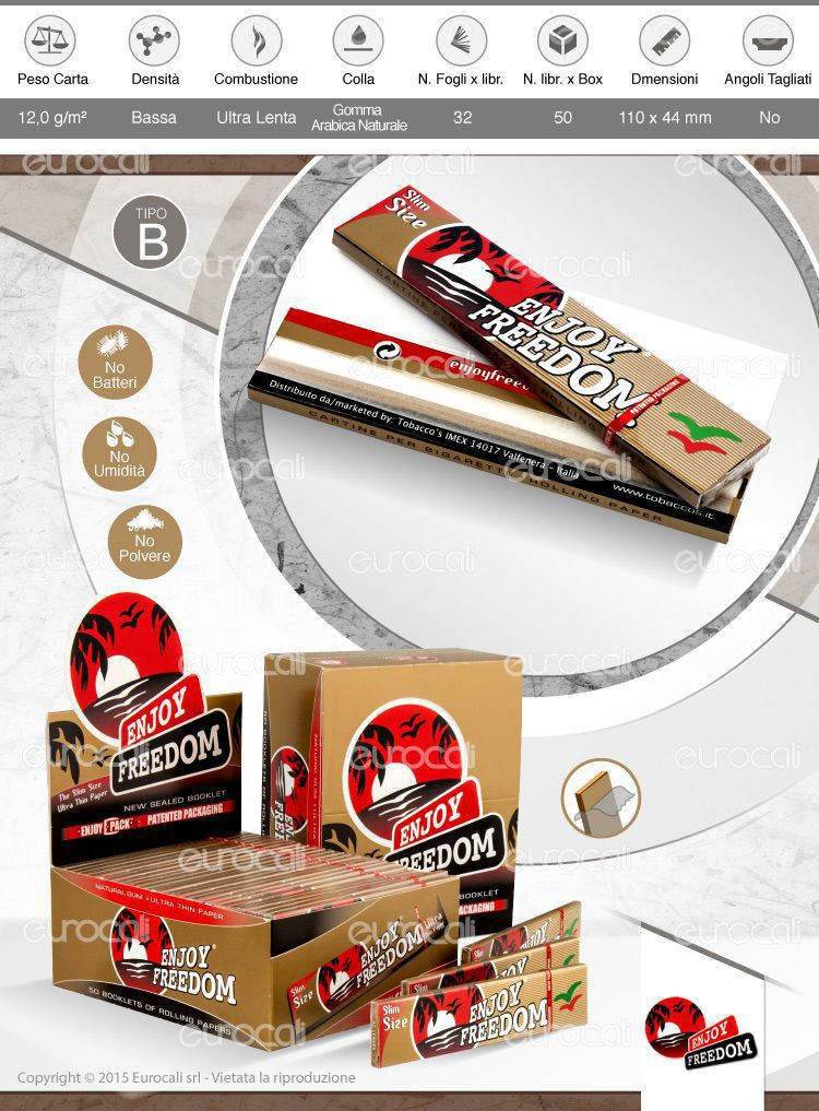 Cartine Enjoy Freedom Lunghe King Size