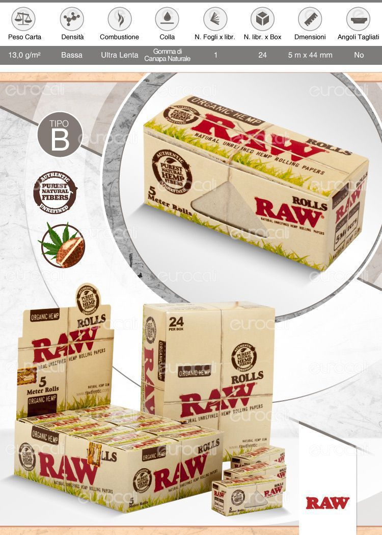 Cartine Raw Organic Hemp Rolls