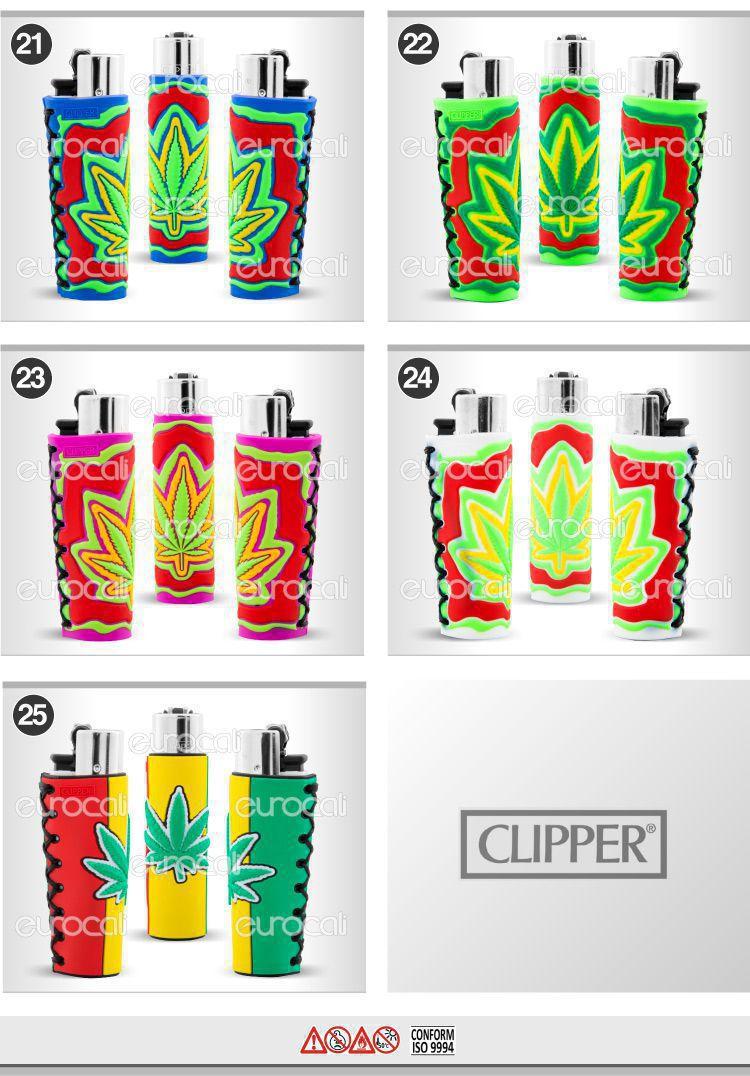 accendino clipper gommato pop leaves