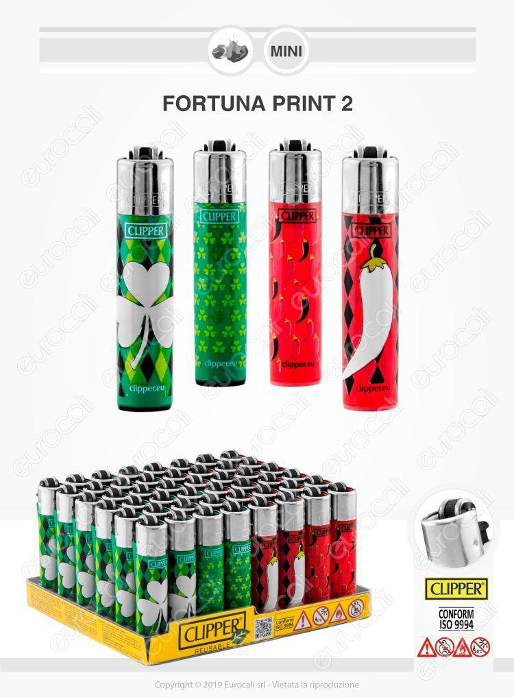 Clipper Micro Fantasia Fortuna Print 2 - 4 Accendini