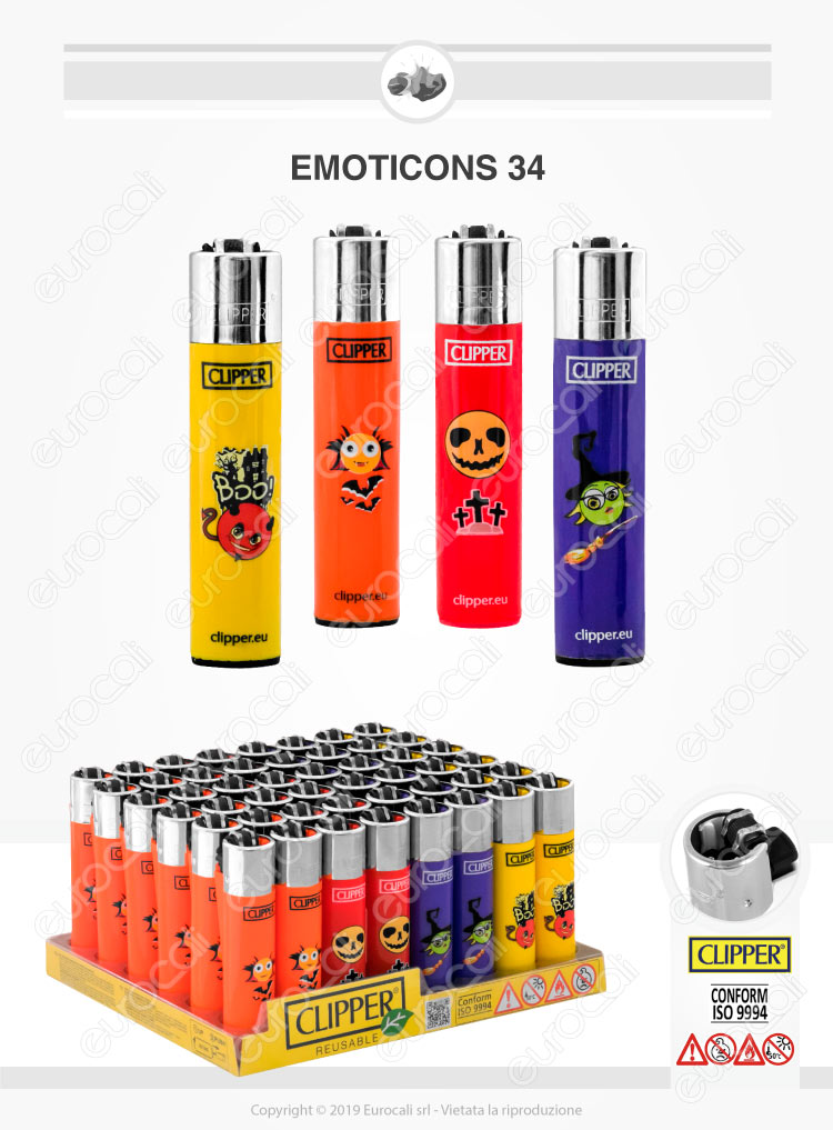 Clipper Large Fantasia Emoticons 34 - 4 Accendini