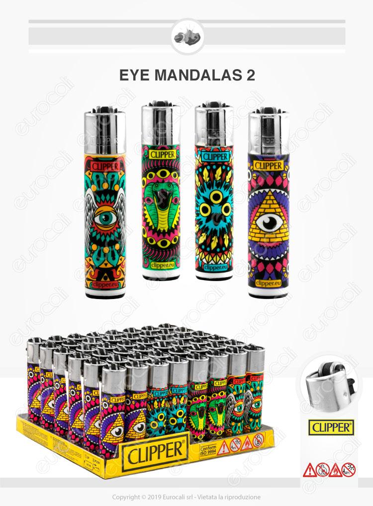 Accendini Clipper Large Fantasia Eye Mandalas 2 - Box da 48