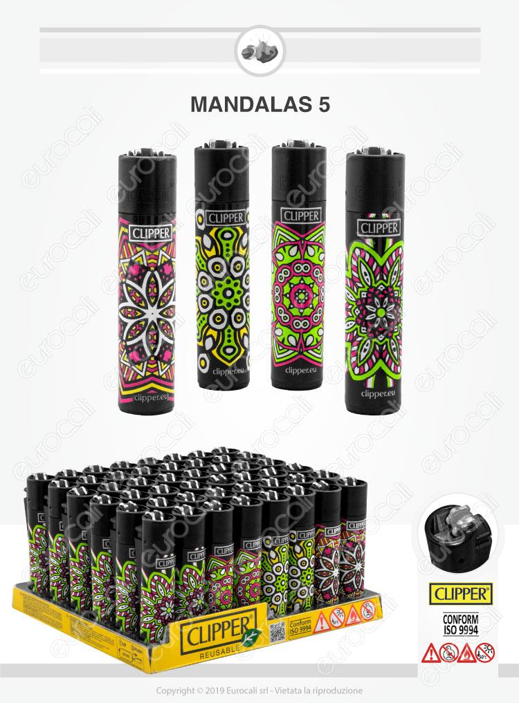Accendini Clipper Large Fantasia Mandalas - Box da 48