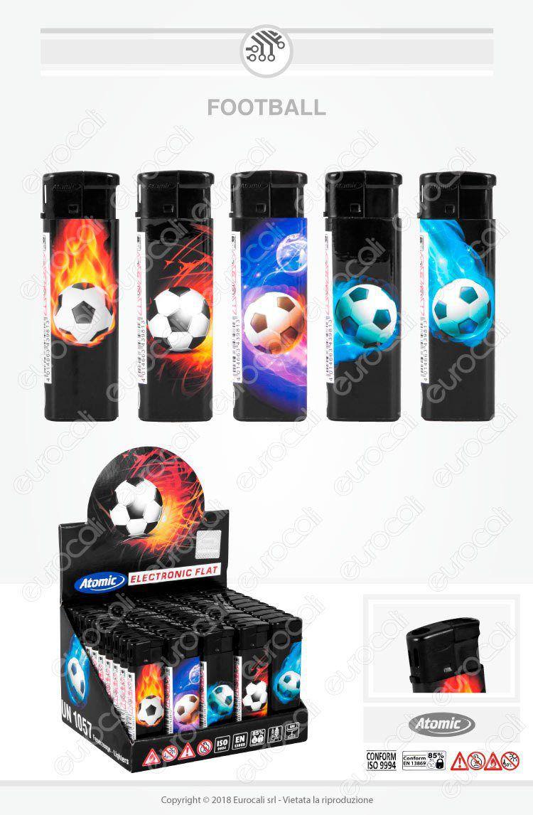accendini atomic maxi football