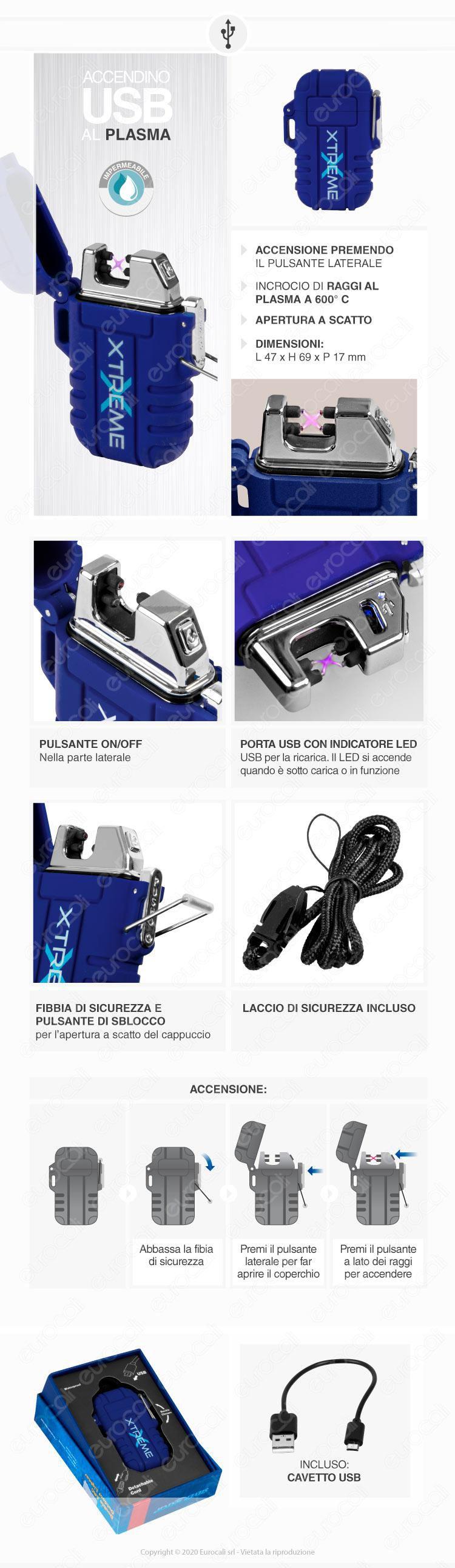 Silver Match Accendino USB con Doppio Arco al Plasma Impermeabile