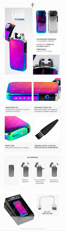 Cozy Accendino USB Arco Plasma