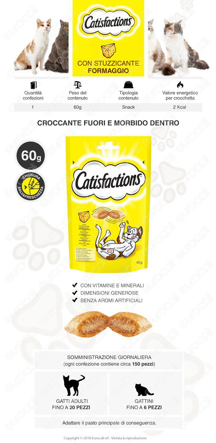 catisfactions snack formaggio 60g