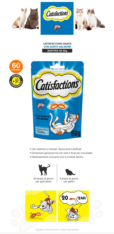 Snack al Salmone per Gatti Catisfactions - Confezione 60g