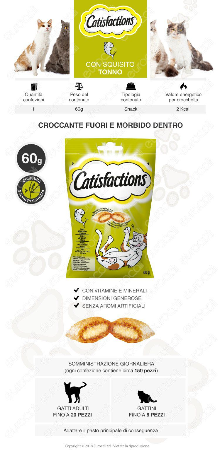 catisfactions snack tonno 60g