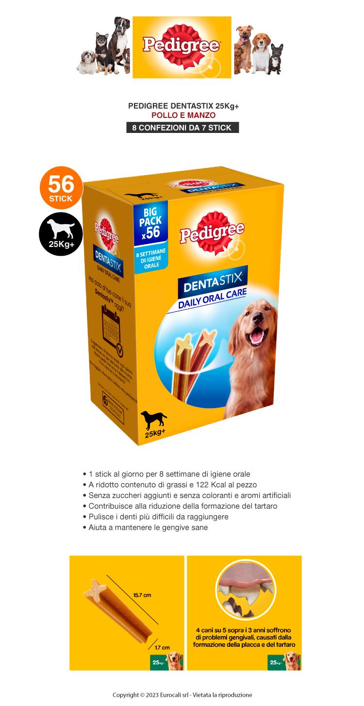 Pedigree Dentastix Large per l'igiene orale del cane Confezione da 56 Stick