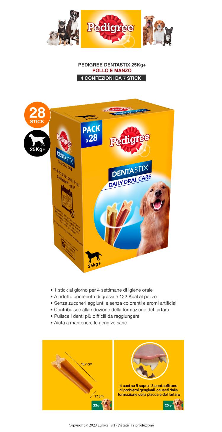 Pedigree Dentastix Large per l'igiene orale del cane Confezione da 28 Stick