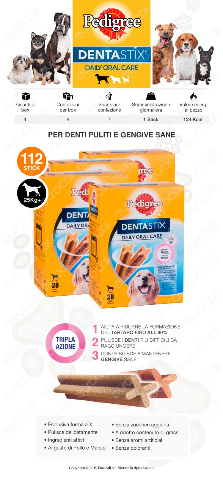 Pedigree Dentastix Large per l'igiene orale del cane 4 Confezione da 28 Stick