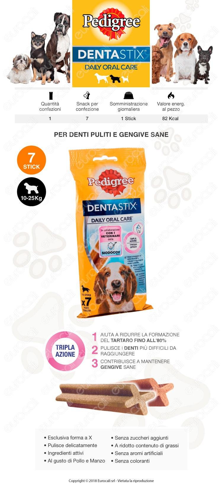 Pedigree Dentastix Medium per l'igiene orale del cane - Confezione da 7 Stick