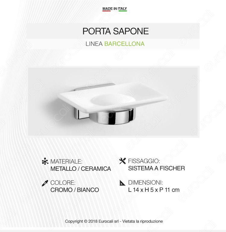 Porta Sapone in Metallo Cromato - Linea Barcellona