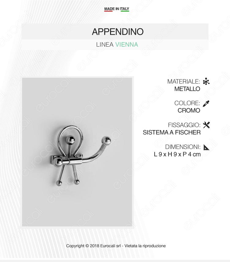 Appendino in Metallo Cromato - Linea Vienna