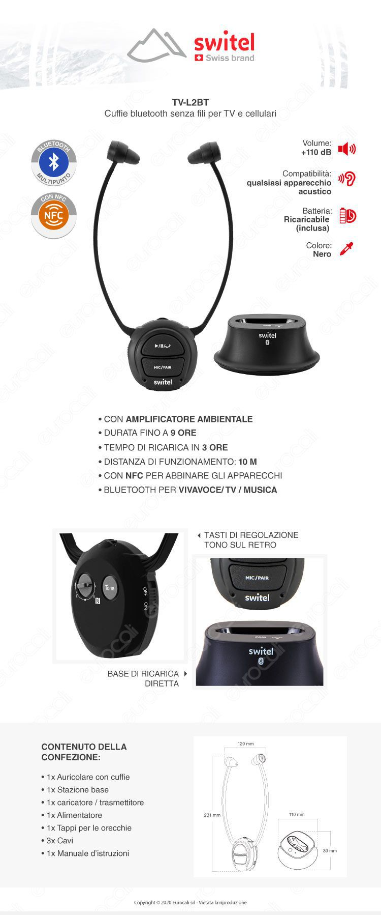 Amplicomms TV2500