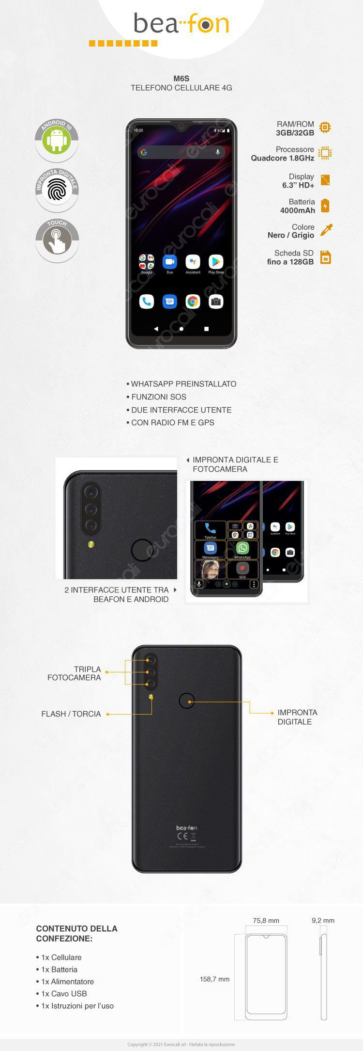 smartphone M6s Beafon