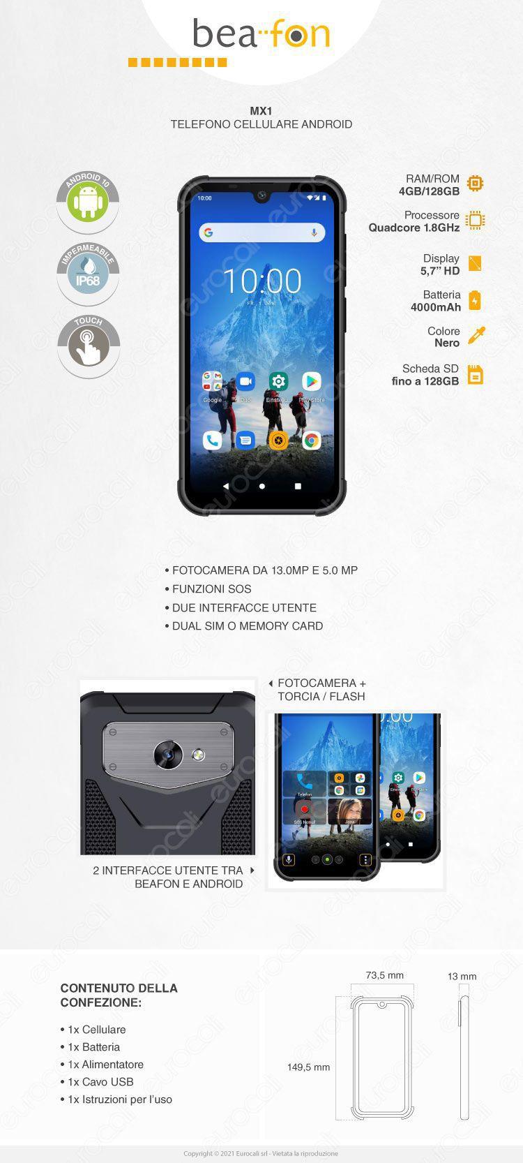 smartphone Mx1 Beafon Android