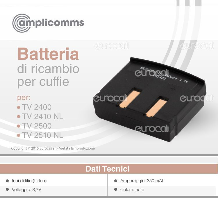 Amplicomms Batteria TV 2400