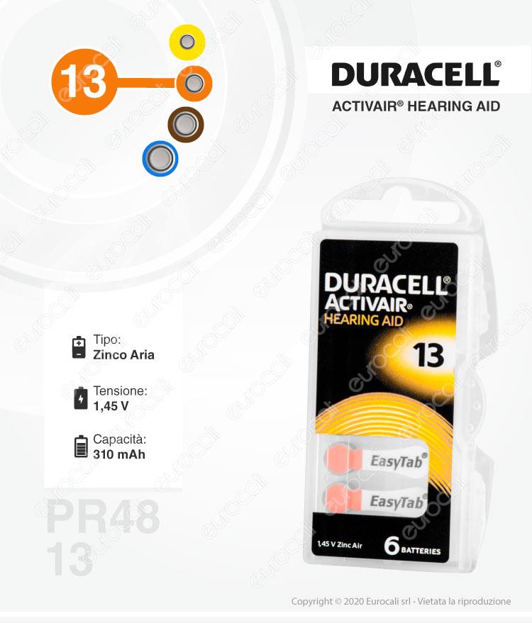 Pile protesi acustiche Duracell