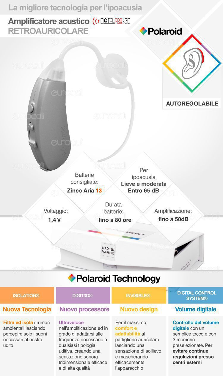 Apparecchio Acustico Polaroid Amplificatore Digital pro 3D