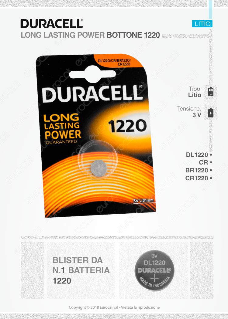 batterie Duracell 1220