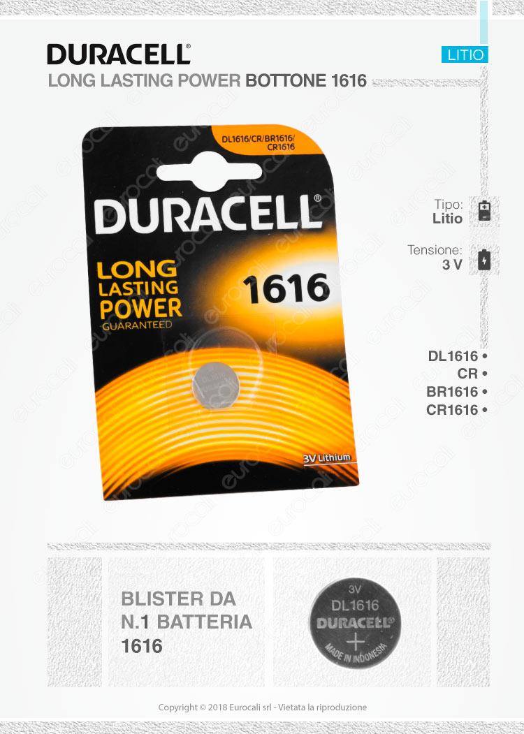 batterie Duracell 1616
