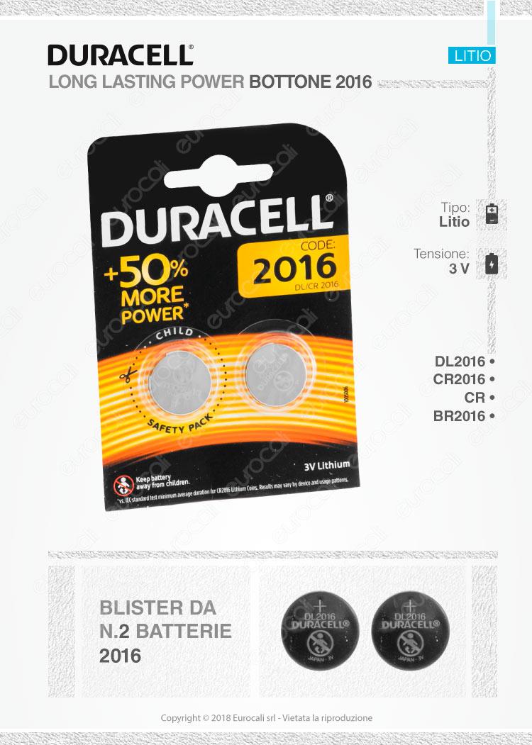batterie Duracell 2016