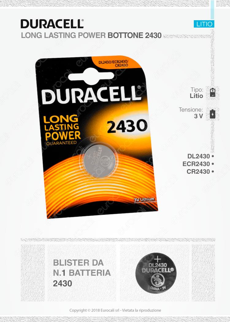 batterie Duracell 2430