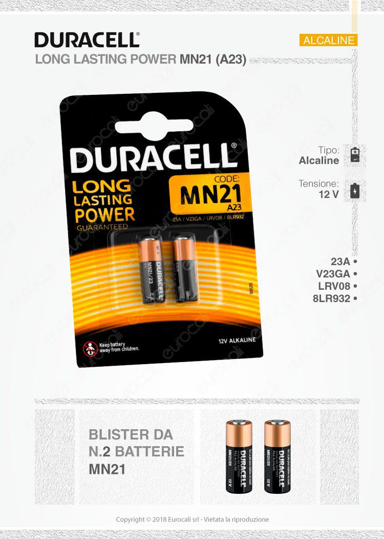 duracell mn21 a23 12v blister 2 batterie. Black Bedroom Furniture Sets. Home Design Ideas