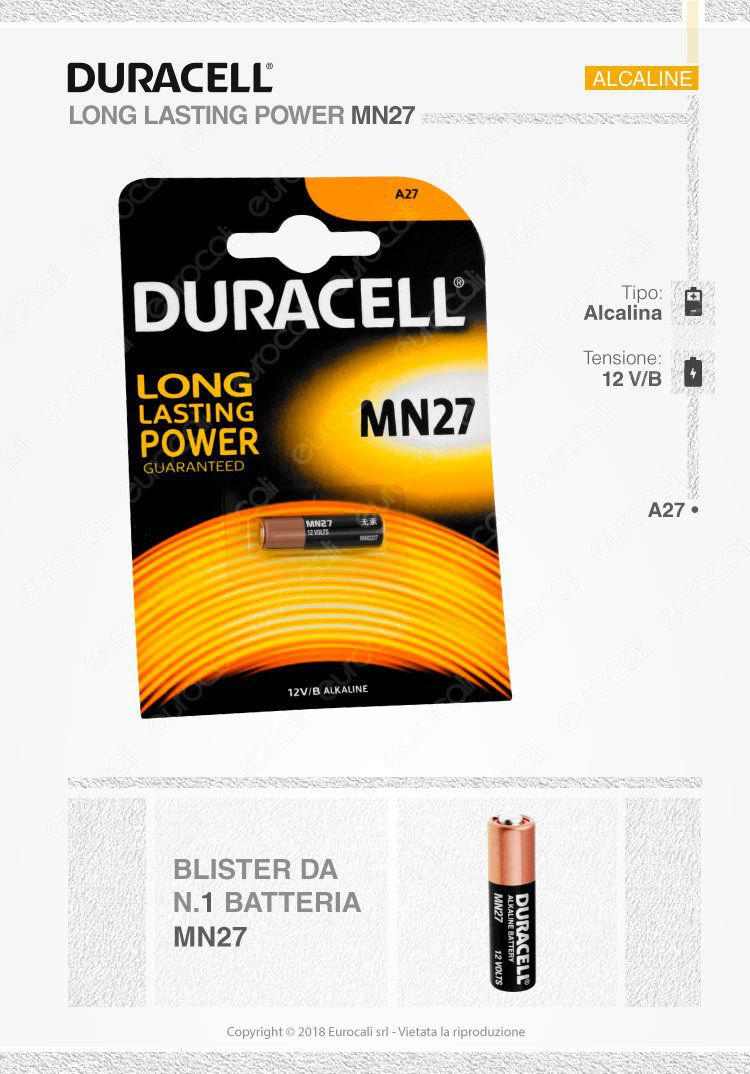 duracell MN27 (A27)