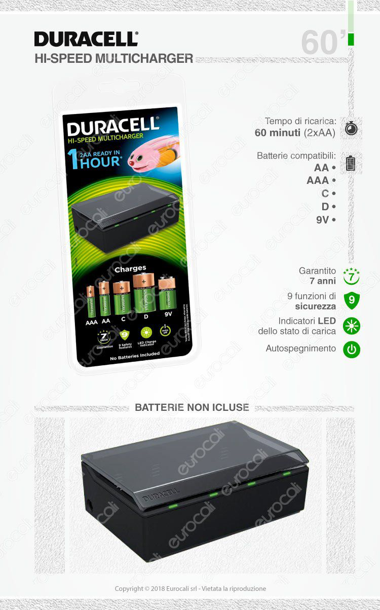 duracell caricabatterie