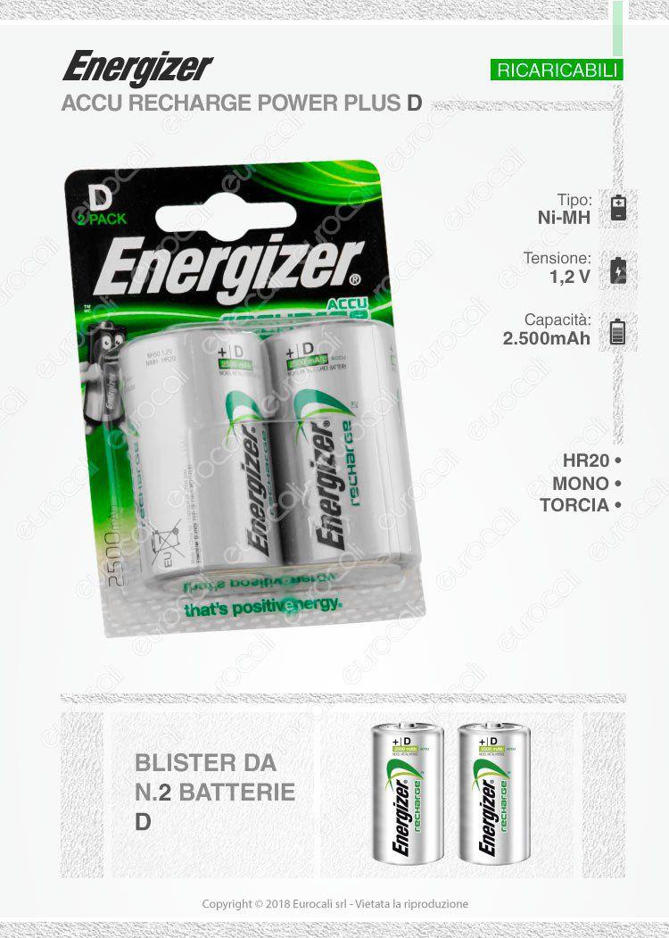 energizer ricaricabili