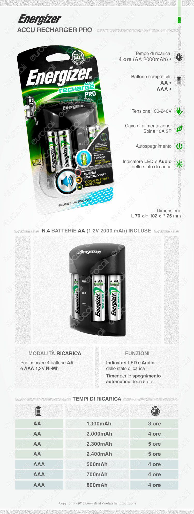 carica batterie energizer