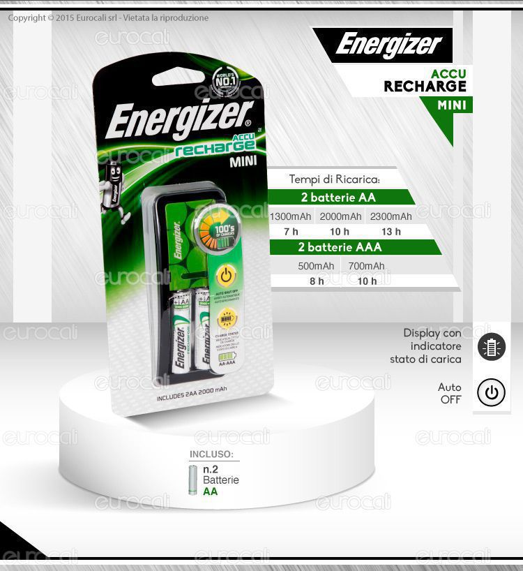 carica batterie Energizer recharge