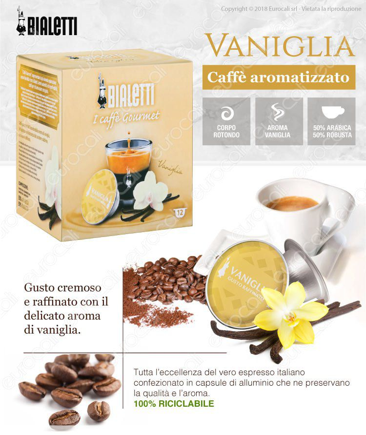 Caffe gourmet Bialetti Vaniglia