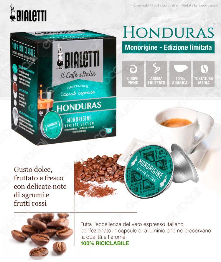 12 Capsule Caffè Bialetti Honduras Edizione Limitata Cialde Originali Bialetti