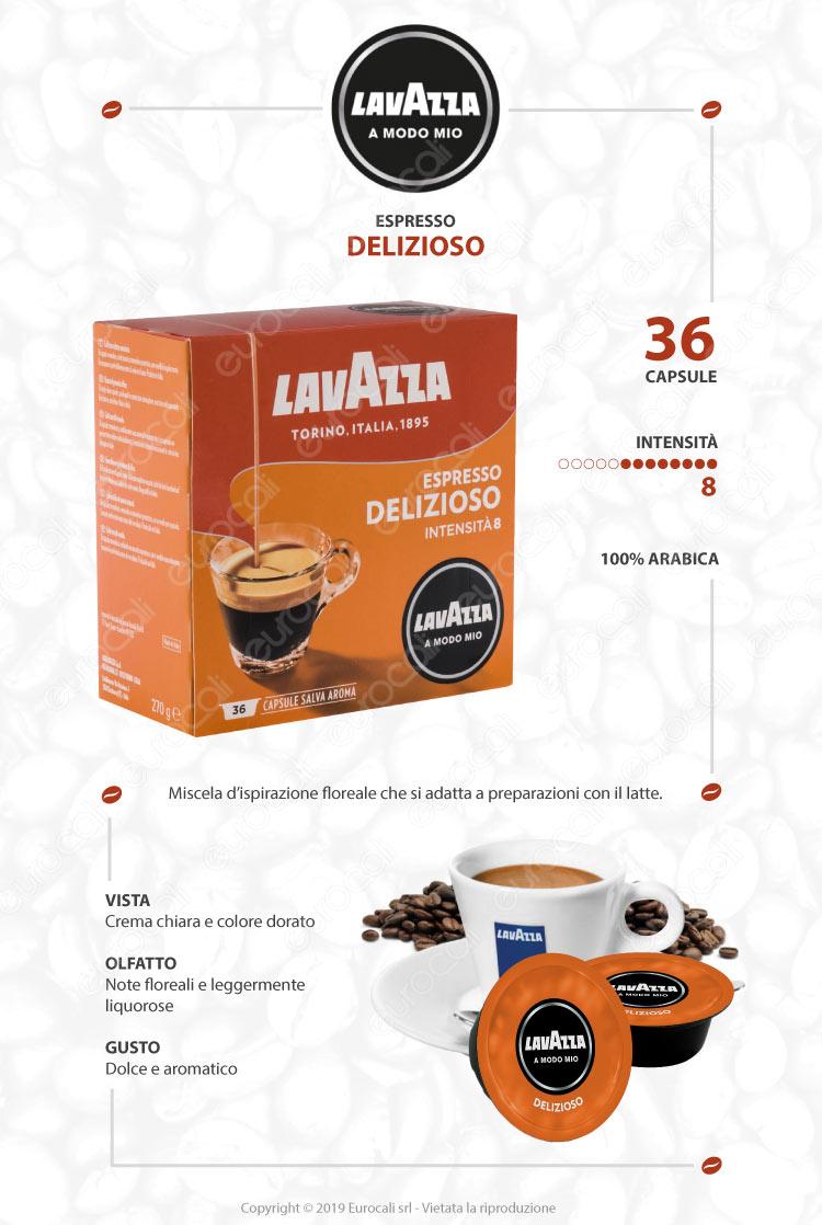 Capsule Caffè Lavazza Espresso Delizioso - Cialde Compatibili Lavazza A Modo Mio