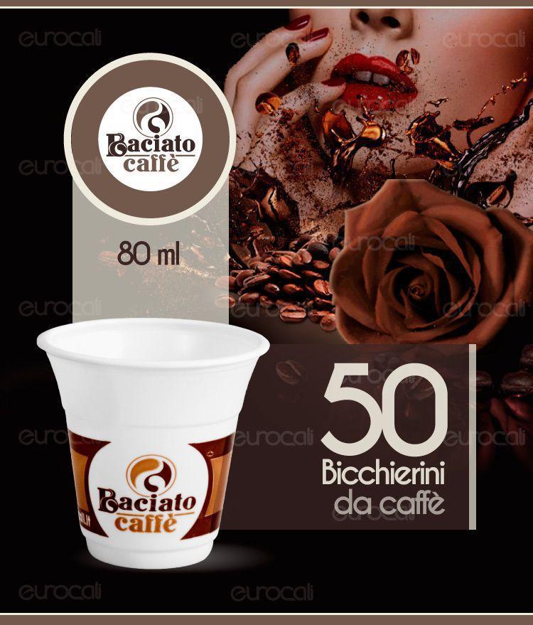Bicchierini da caff 50 bicchieri da 80ml baciato caff for Bicchieri caffe