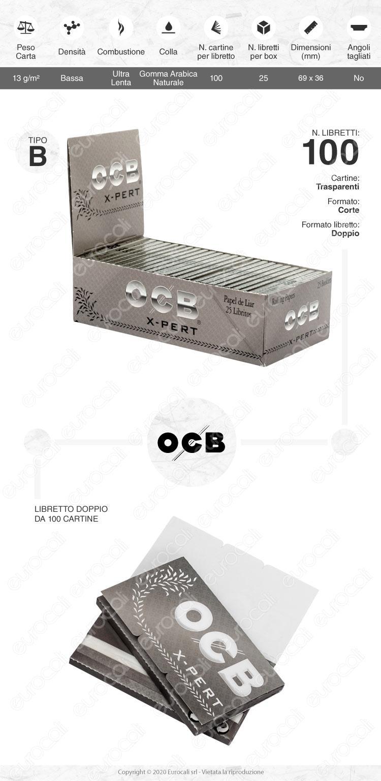 Cartine OCB Argento Corte Doppie