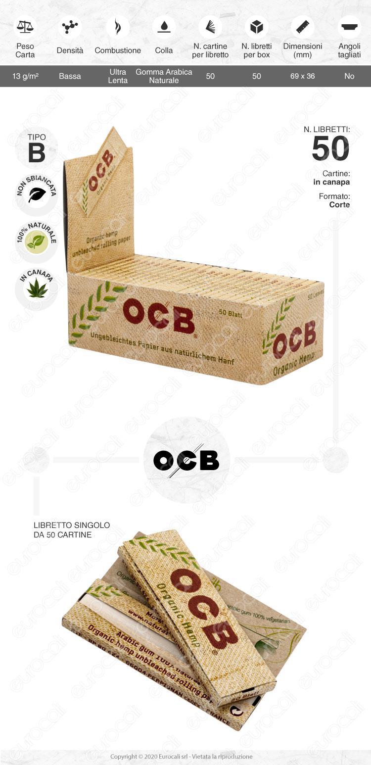Cartine OCB Hemp corte