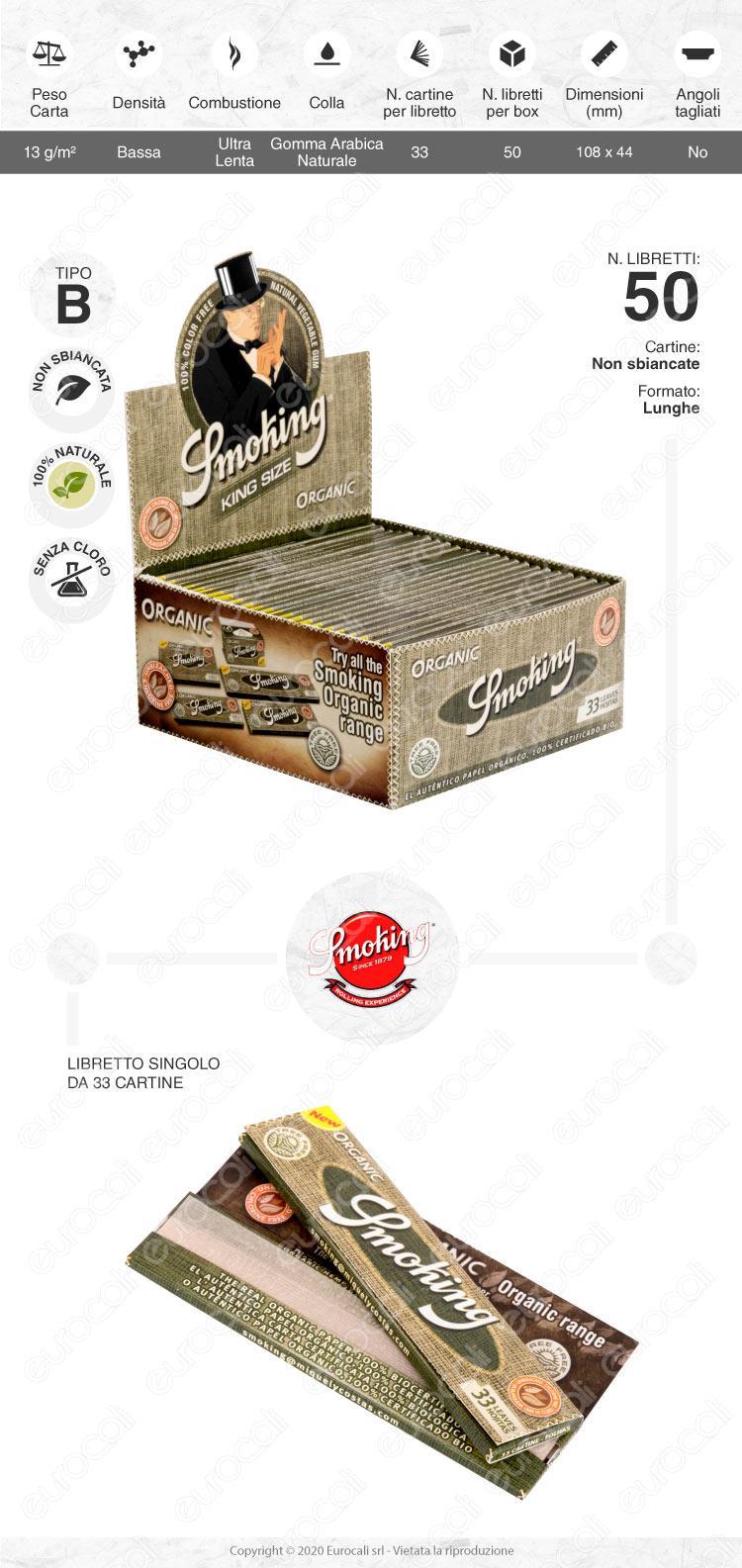 Cartine Smoking Organic