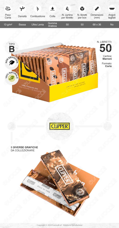 Cartine CLIPPER corte pure