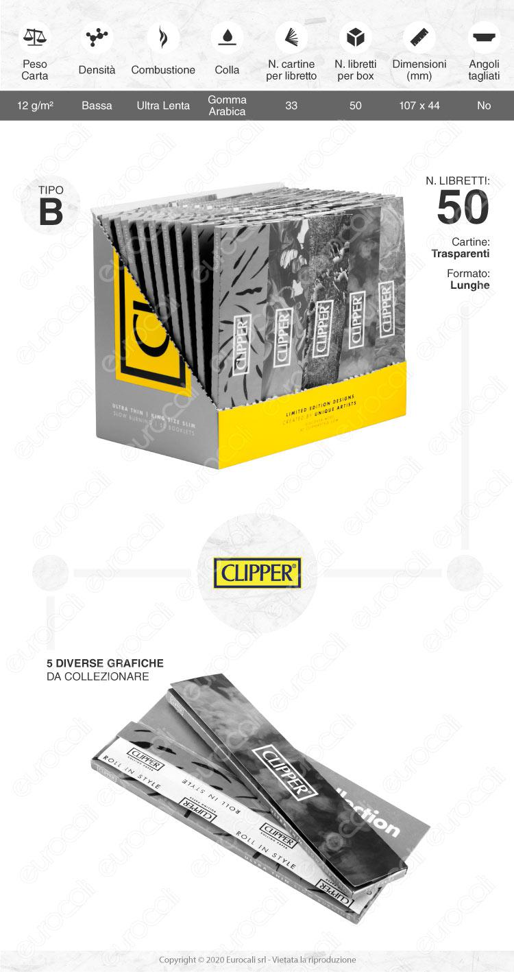 Cartine CLIPPER lunghe slim e filtri in carta
