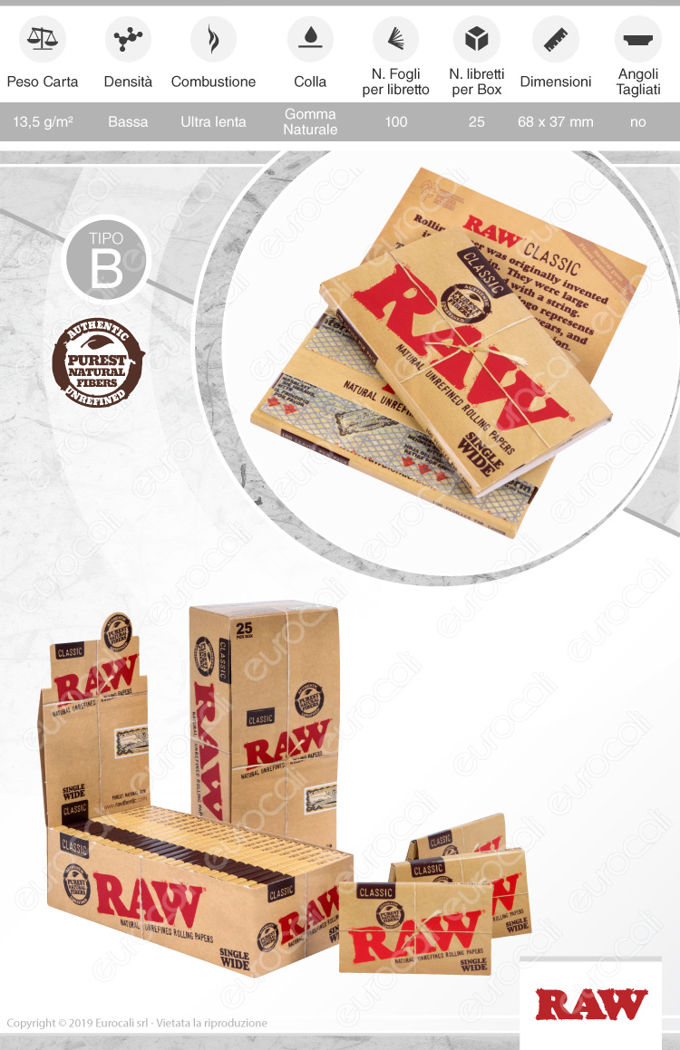Cartine Raw Single Wide Corte Doppie