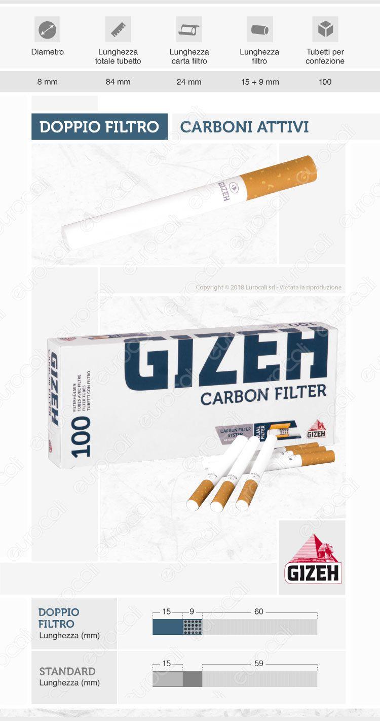 Tubetti Gizeh Carboni Attivi
