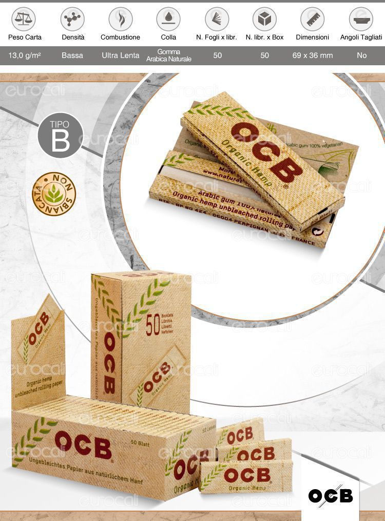 Cartine OCB Hemp corte